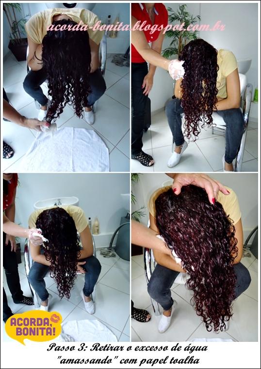 Ritual Deva Curl secando cabelo cacheado