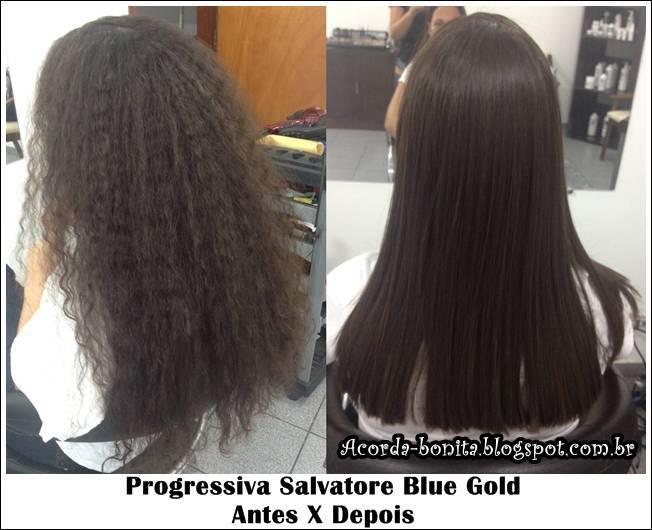 Antes Depois Progressiva salvatore blue gold cabelos cacheados