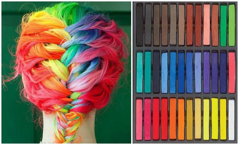 Hair Chalk – Como fazer mechas coloridas no cabelo com giz pastel 2