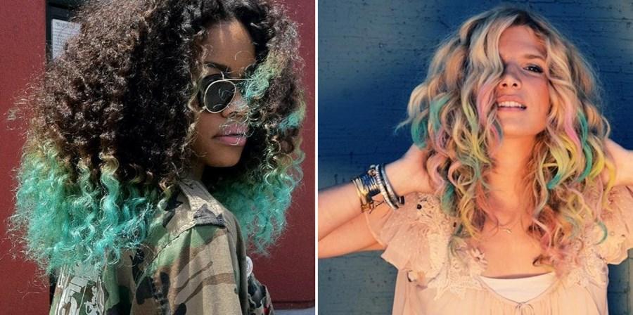 Hair Chalk – Como fazer mechas coloridas no cabelo com giz pastel cabelos cacheados