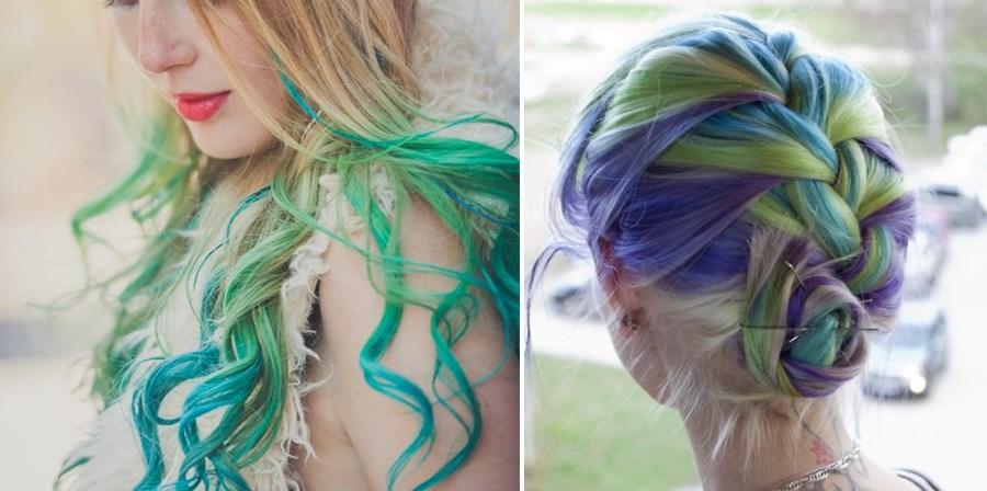Hair Chalk – Como fazer mechas coloridas no cabelo com giz pastel cabelos loiros 2