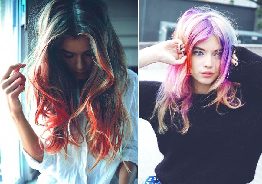 Hair Chalk – Como fazer mechas coloridas no cabelo com giz pastel mechas