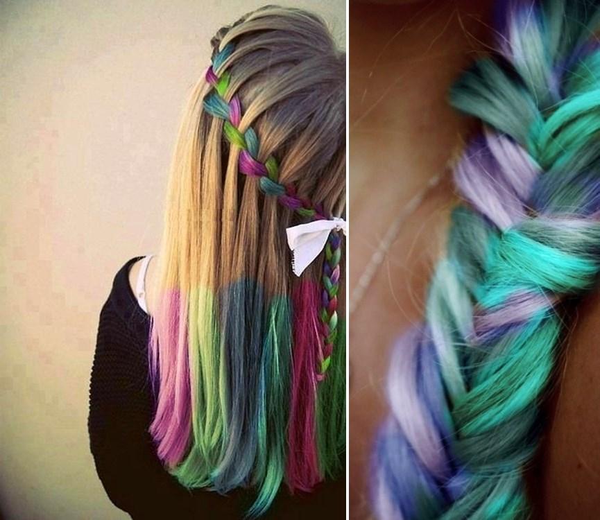 Hair Chalk – Como fazer mechas coloridas no cabelo com giz pastel penteados