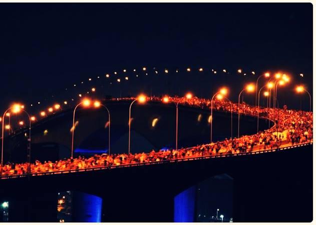 Protesto em vitória es 3 ponte tomada