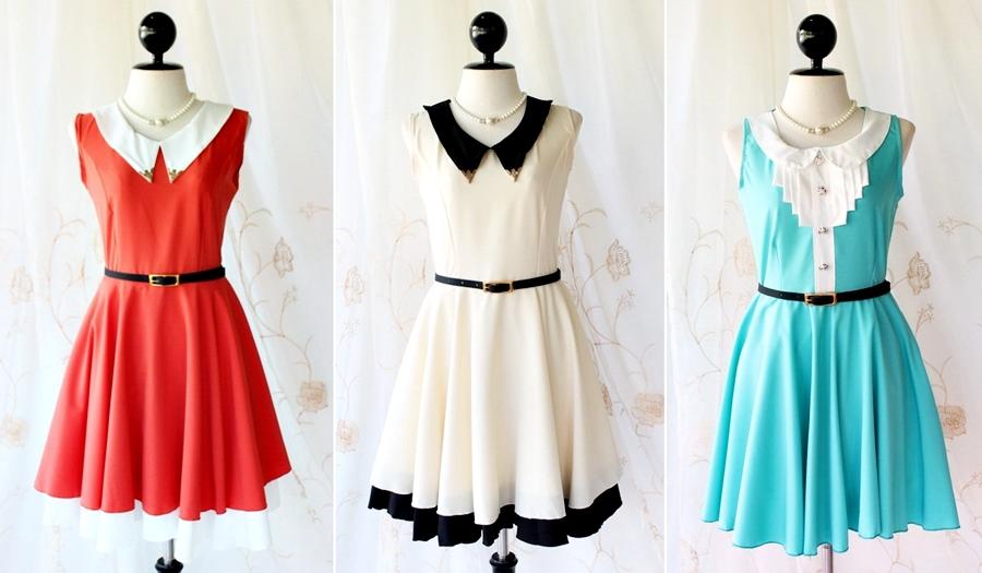 Tendência primaveraverão 2014 Estilo romântico Girly vestidos vintage