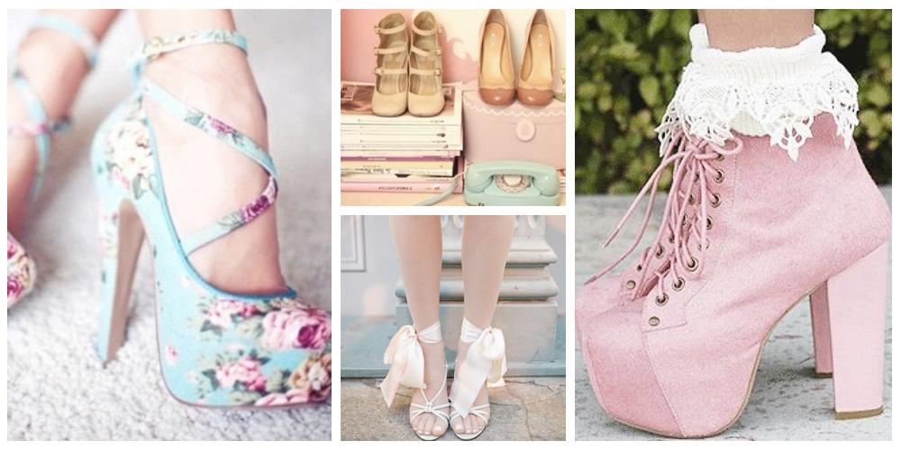 Estilo Girly, moda Girlie, primavera verão 2014 acessórios sapatos