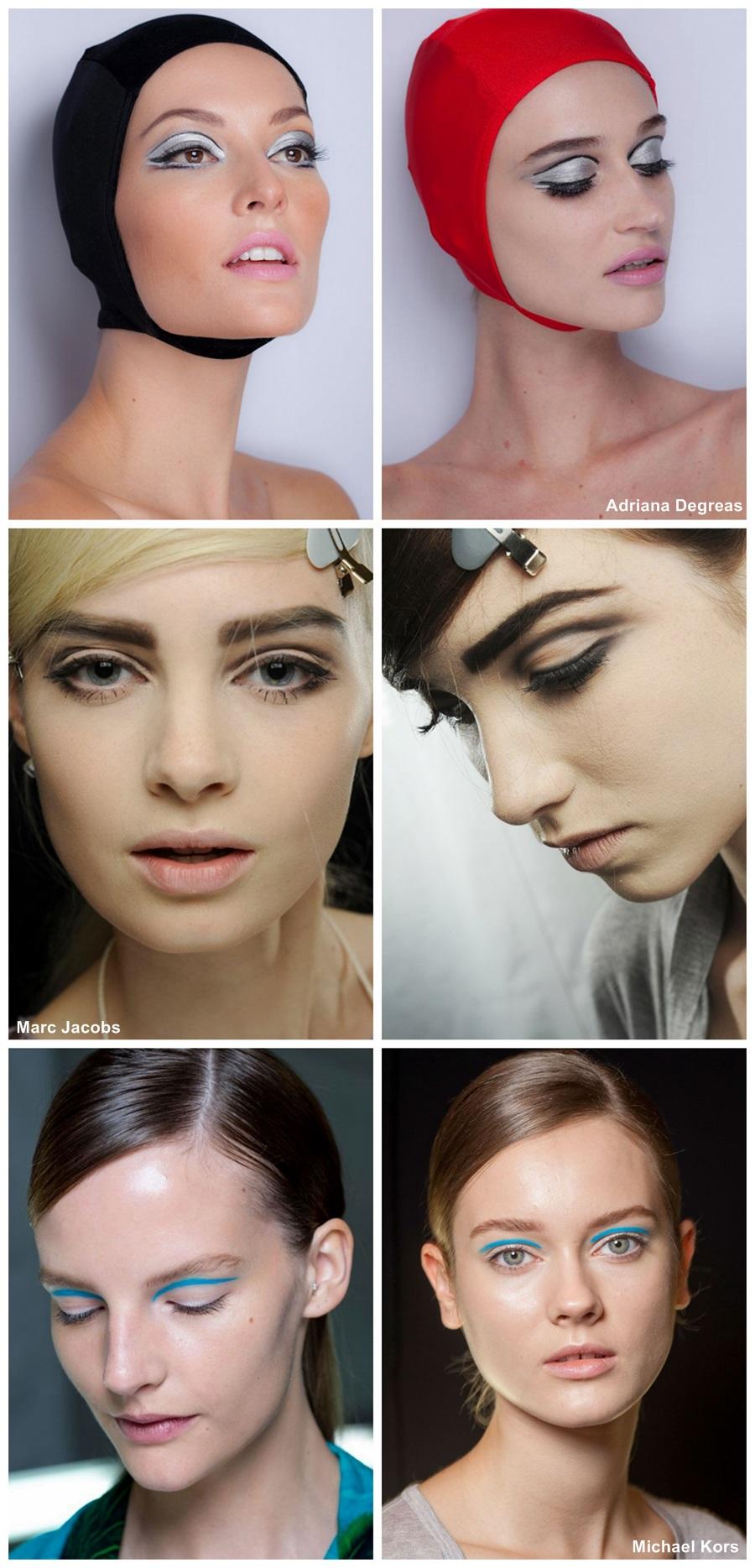 tendência de maquiagem verão 2014 DELINEADO côncavo marcado anos 60