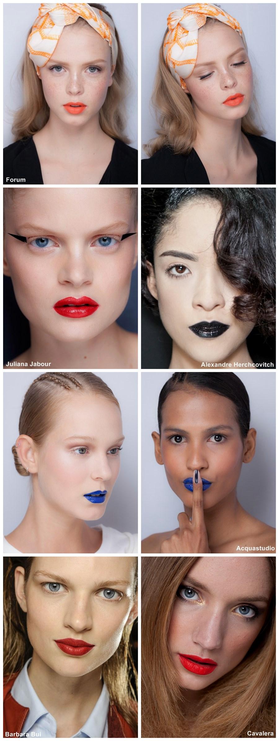 tendência de maquiagem verão 2014 batons coloridos