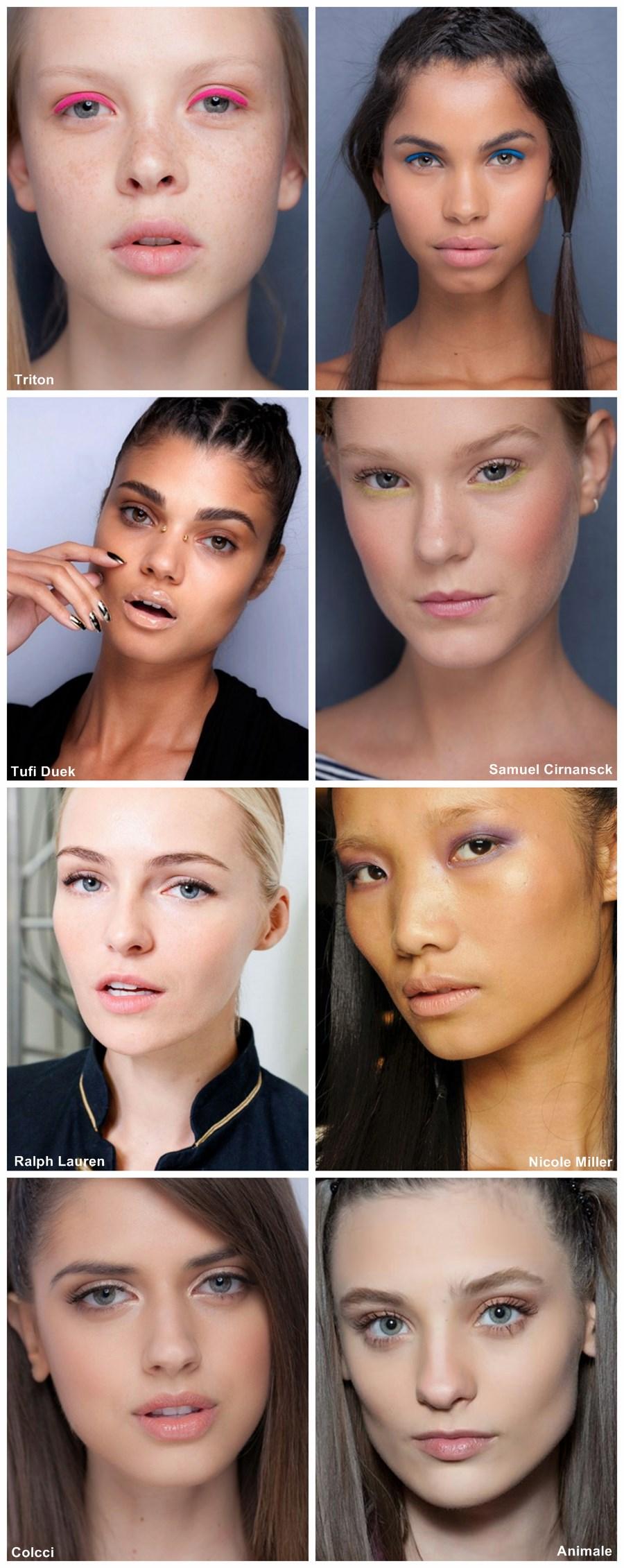 tendência de maquiagem verão 2014 minimalismo look monocromatico