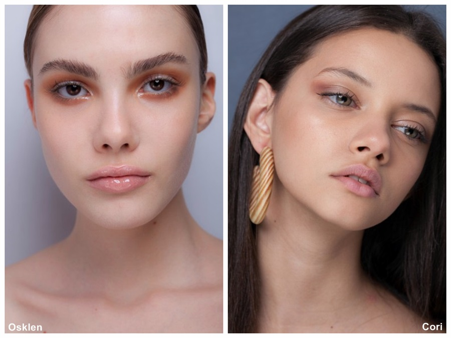 tendência de maquiagem verão 2014 minimalismo sombra marrom Osklen cori