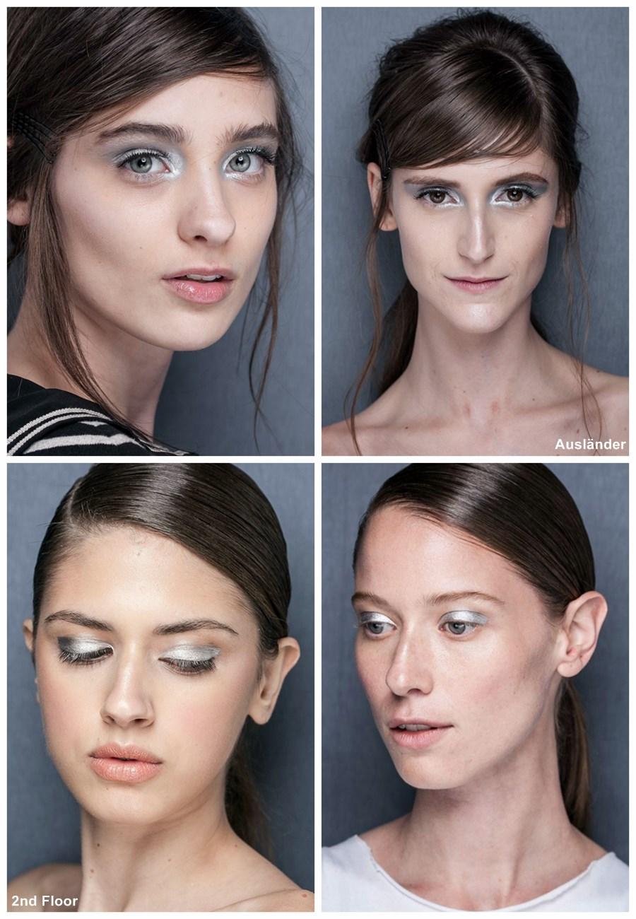 tendência de maquiagem verão 2014 minimalismo sombra prata