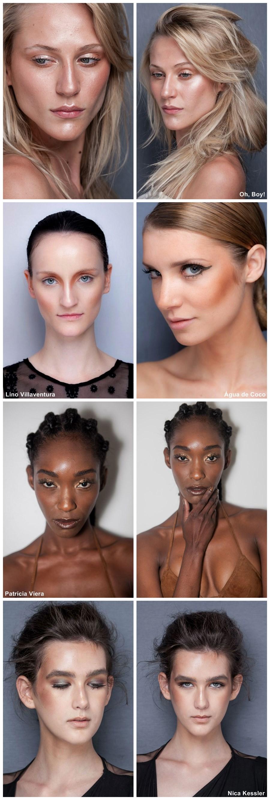 tendência de maquiagem verão 2014 pele iluminada bronzeada