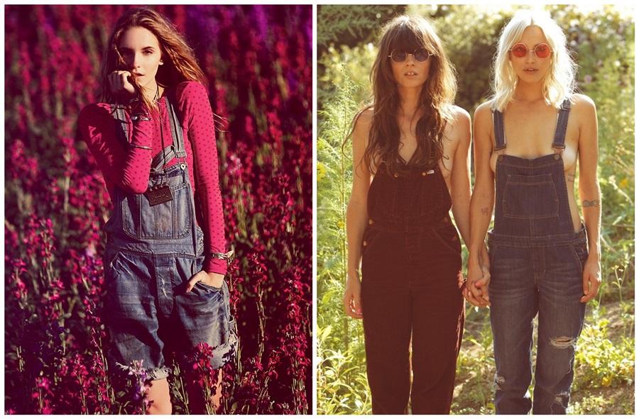 tendência verão 2014 macacão feminino jeans