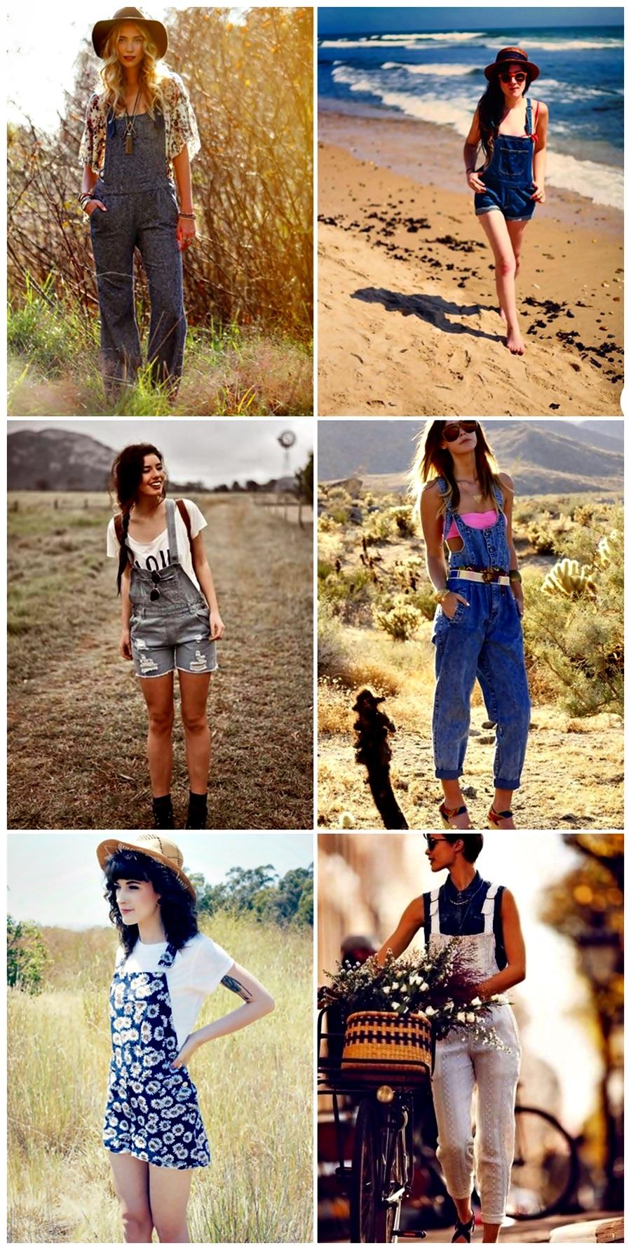 tendência verão 2014 macacão feminino jeans e jardineiras