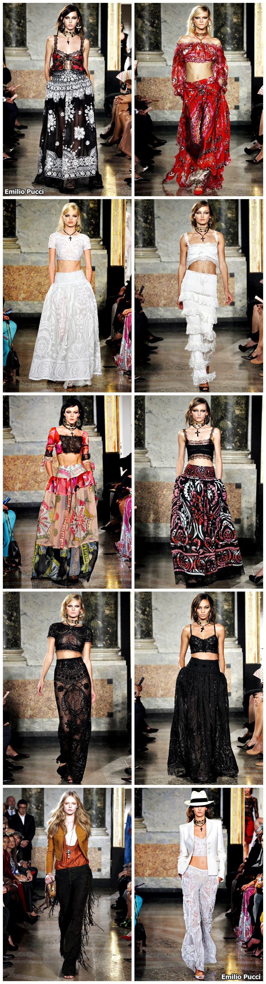 Alerta de tendência Estilo Gypsy – o Cigano contemporâneo Emilio Pucci