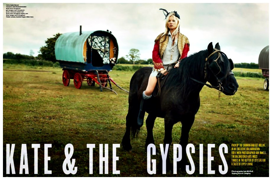 Alerta de tendência Estilo Gypsy – o Cigano contemporâneo Kate Moss editorial