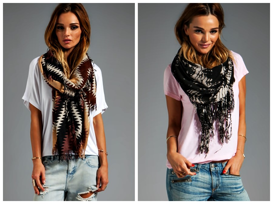 Alerta de tendência Estilo Gypsy – o Cigano contemporâneo como lenços com jeans