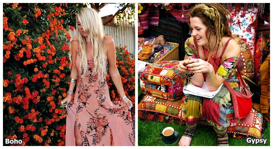 Alerta de tendência Estilo Gypsy e boho diferença 2