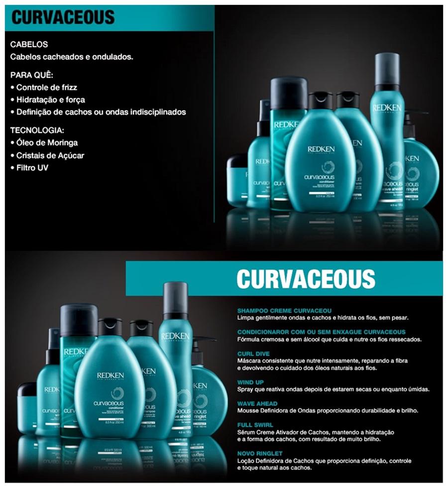 Melhores shampoo e condicionador para cabelos cacheados linha Redken Curvaceous