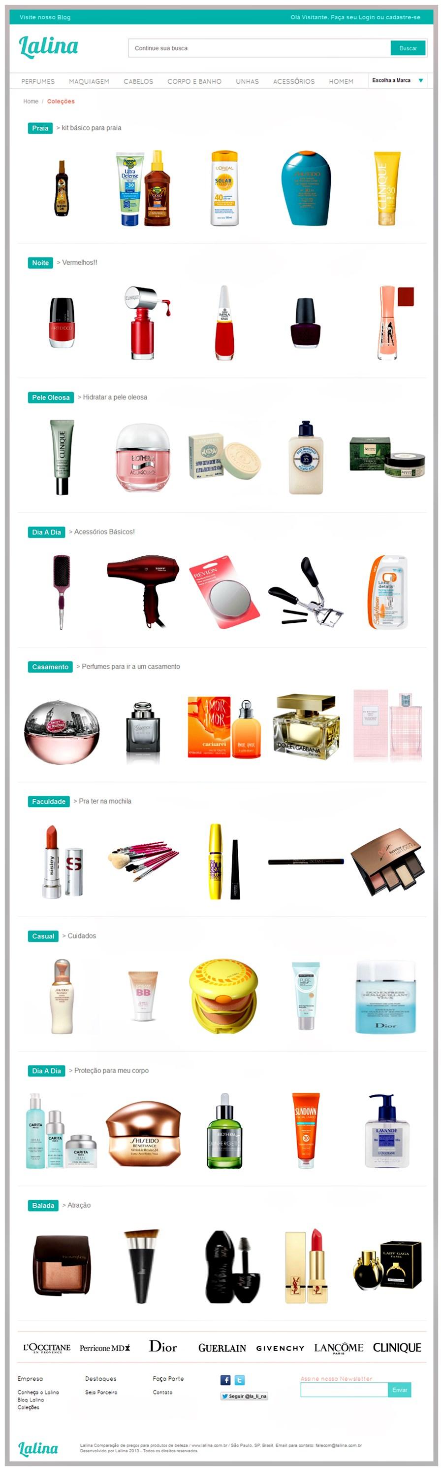 Lalina - maquiagem, perfume e produtos de beleza no menor preço coleções
