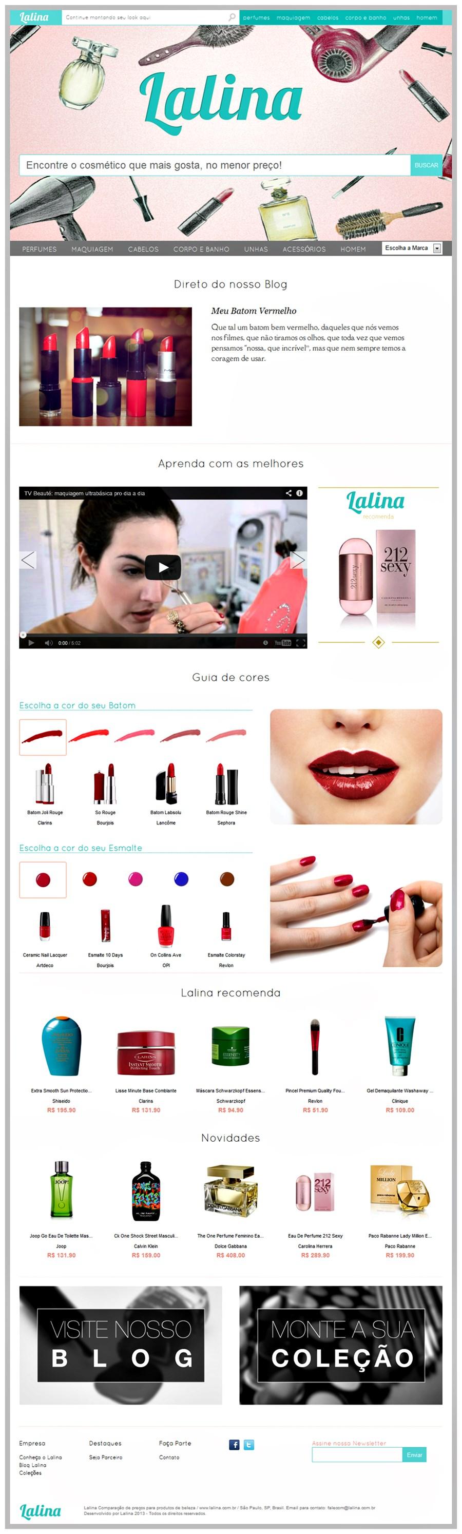 Lalina - maquiagem, perfume e produtos de beleza no menor preço