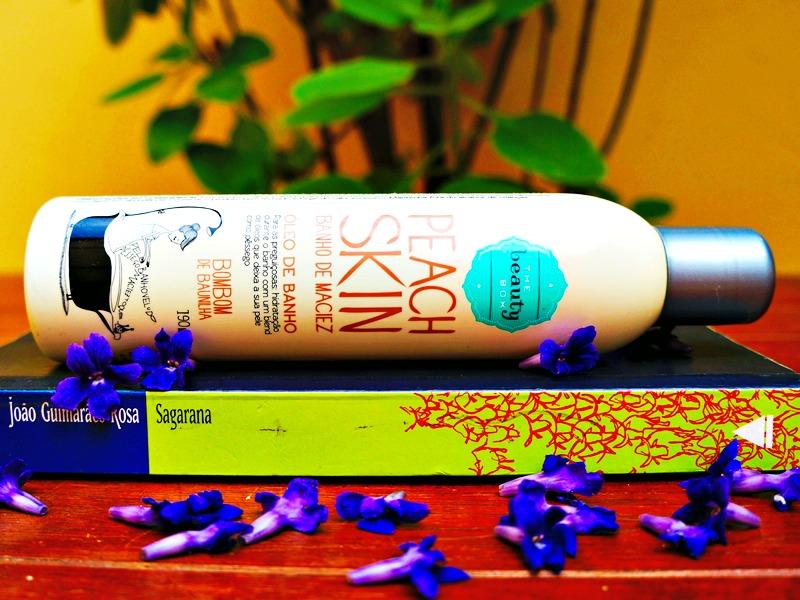 Óleo de Banho Peach Skin Bombom de Baunilha, Produtinhos da Beauty