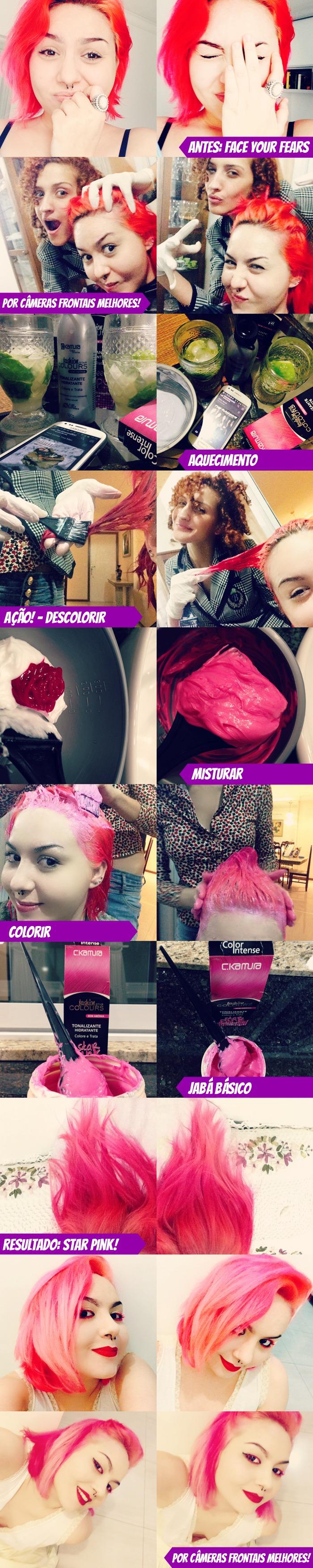 Como pintar o cabelo de rosa Passo a passo e dicas