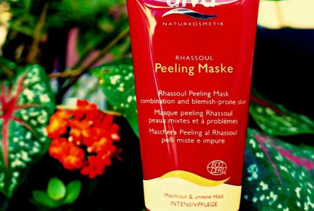 Máscara facial orgânica para pele mista e oleosa Alva Rhassoul Peeling Mask