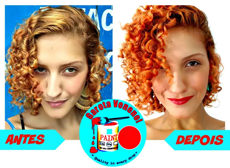 Garota Veneno antes e depois, Máscara Tonalizante para Ruivas Lola Cosmetics