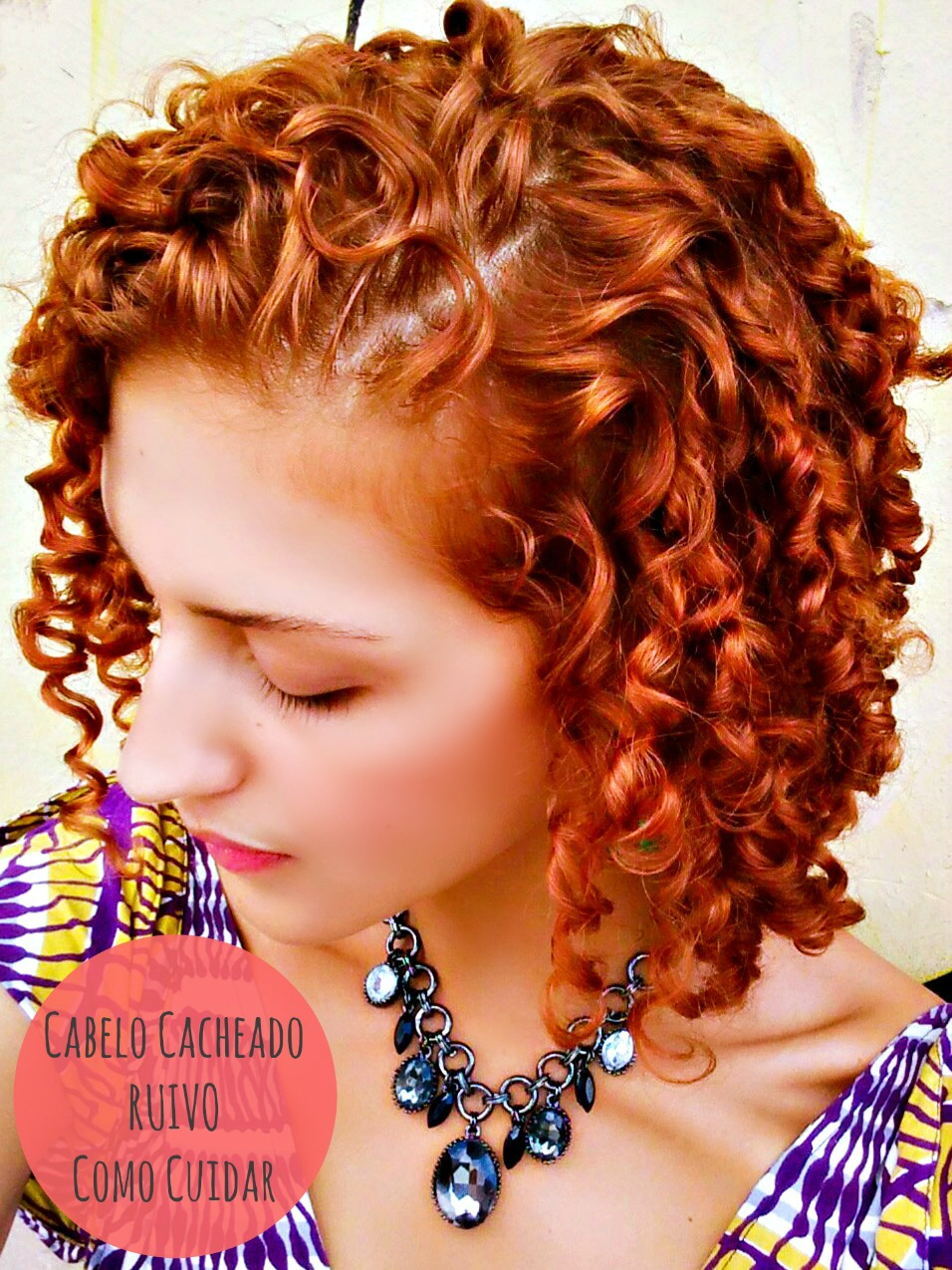 Ruivas Cacheadas Como cuidar de cabelo cacheado ruivo acobreado Karina Viega