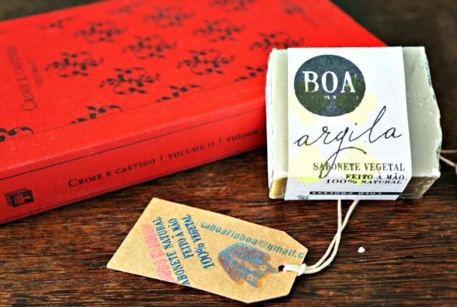 Melhores cosméticos organicos sabonete artesanal de argila BOA saboaria