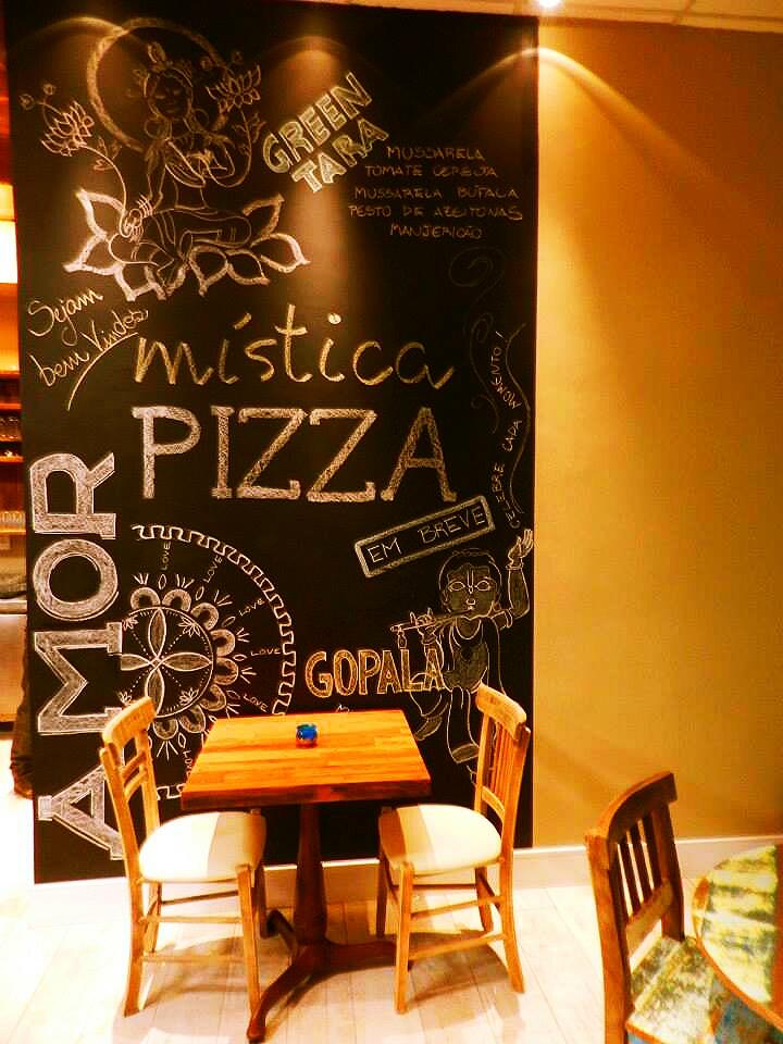 Dica de decoração Parede de Lousa Mística Pizza