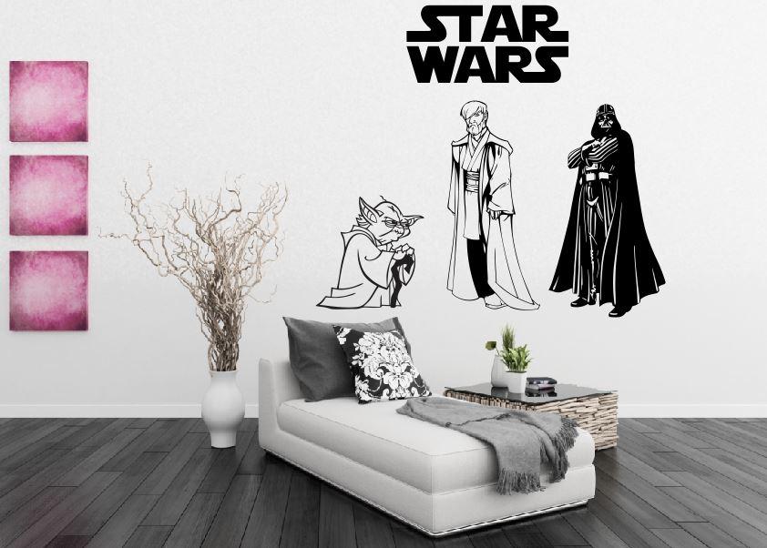 Dica de decoração barata para leigos Adesivo de Parede Star Wars