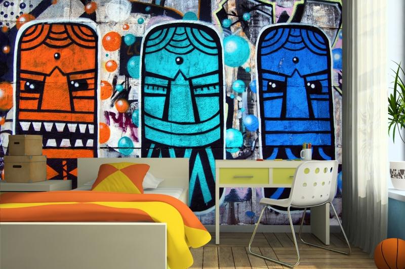 ica de decoração barata para leigos Parede Grafitada quarto