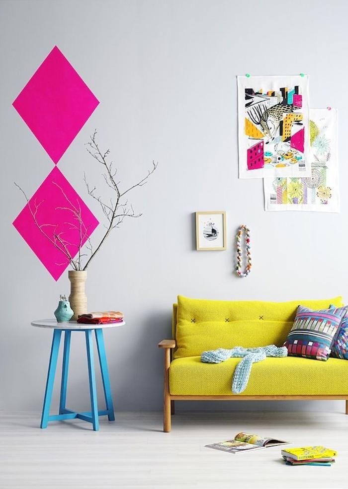 Dica de decoração barata para leigos móveis coloridos 2