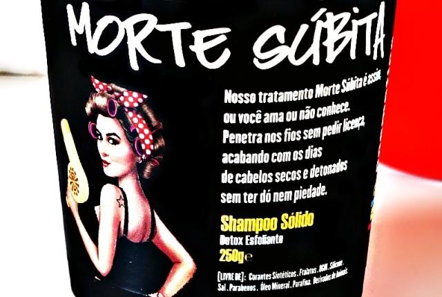 Ritual Morte Súbita Lola Shampoo sólido Detox Esfoliante Resenha