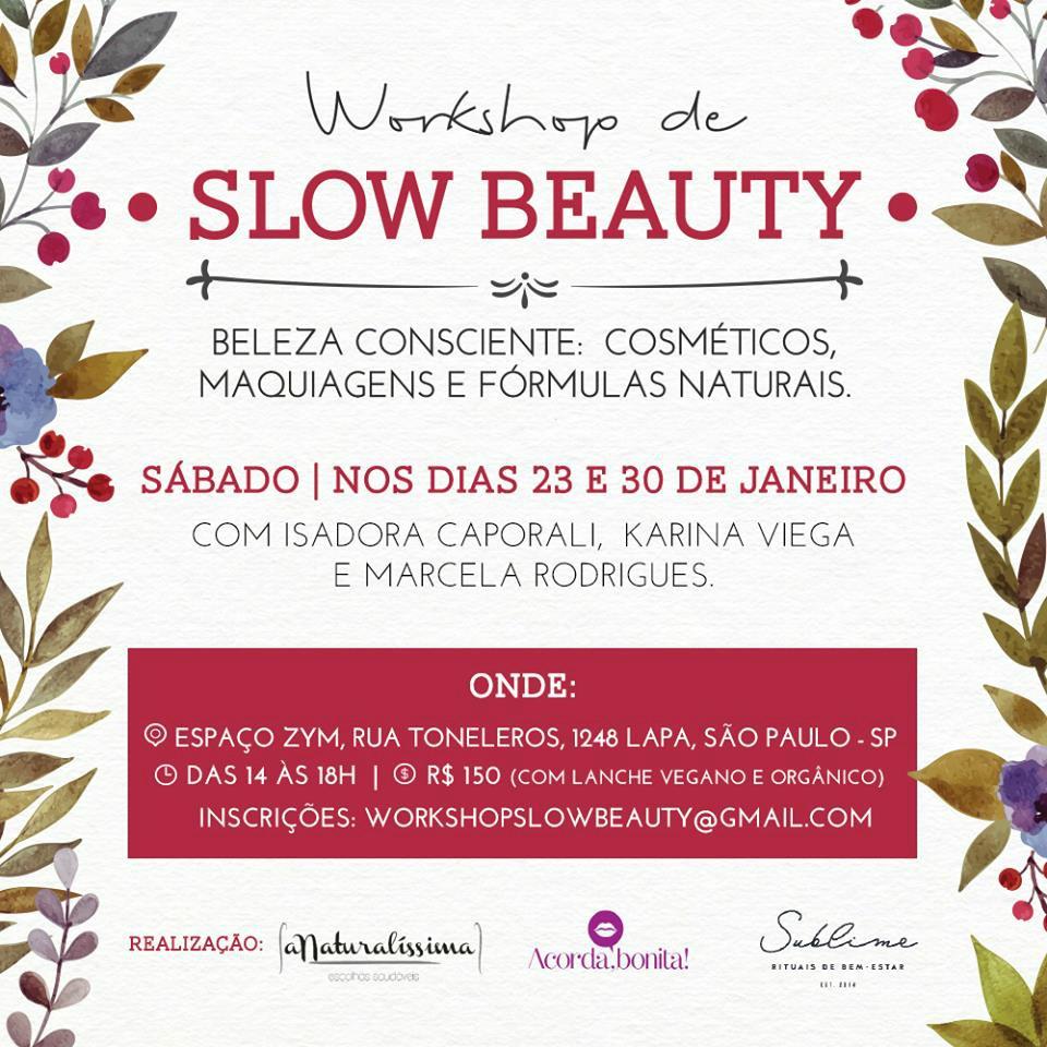 Workshop de Slow Beauty em São Paulo convite