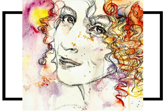 Grafite, Aquarela e Óleos Essenciais Juliana Duclós Blend Retrato Karina Viega