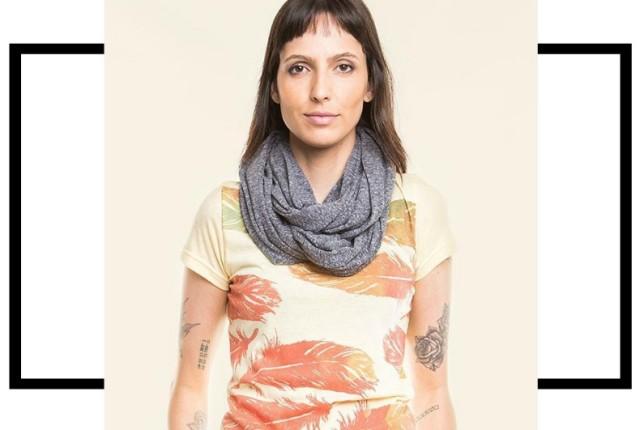 Tiê moda sustentável camiseta aldodão e PET reciclado 2