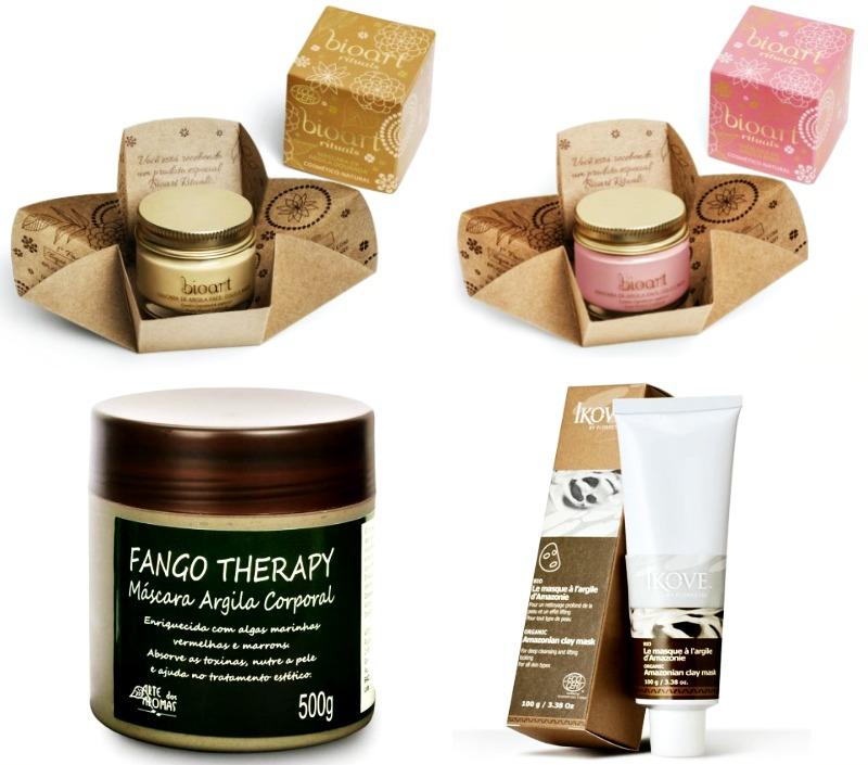cosméticos naturais multifuncionais MELHORES ARGILAS
