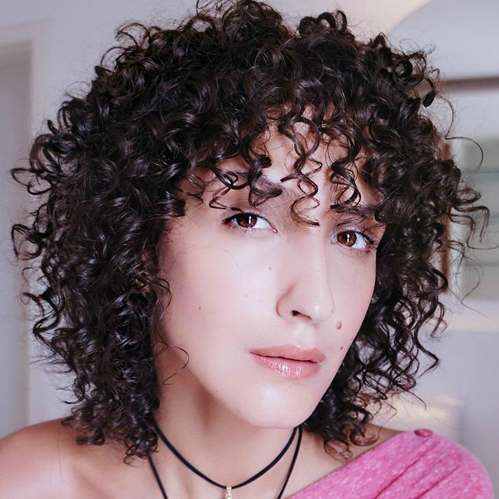 finalização rápida cabelo cacheado curto 3a 3b franja cacheada Karina Viega